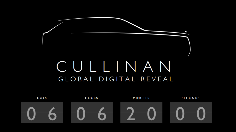 Rolls-Royce Cullinan Global Digital Reveal Confirmed For May 10