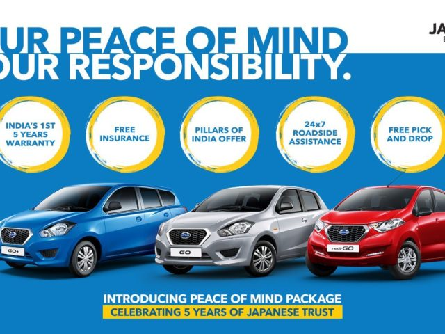 Datsun Introduces 'Peace Of Mind' Package For All Its Models