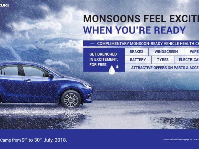 Maruti Suzuki To Organise Monsoon Service Camp