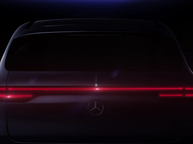 Rear End Of Mercedes-Benz EQC Teased