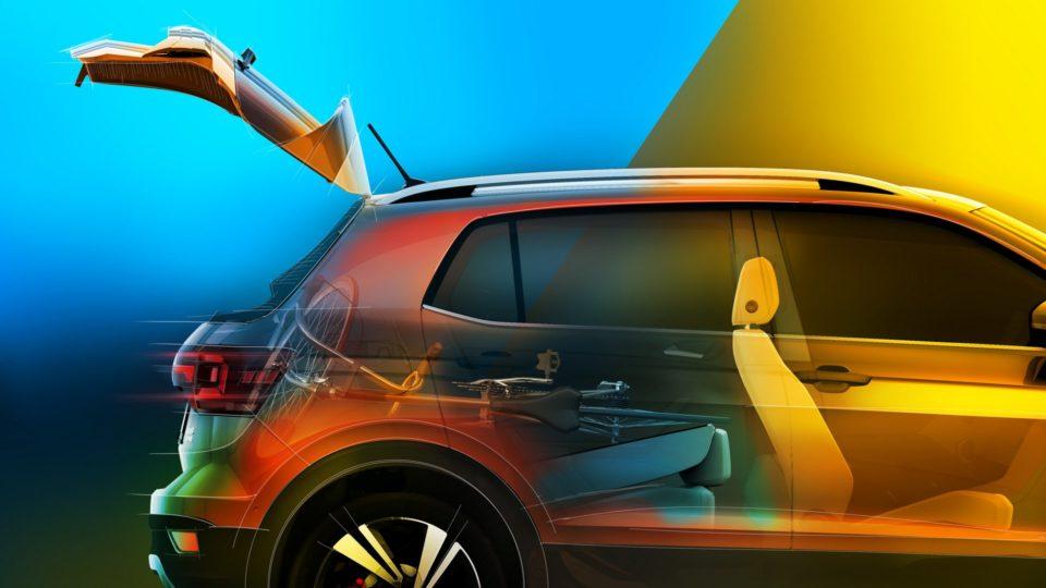 Volkswagen T-Cross Teased Again; Flaunts Big Boot