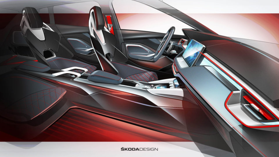 Skoda Vision RS Concept Interiors Teased