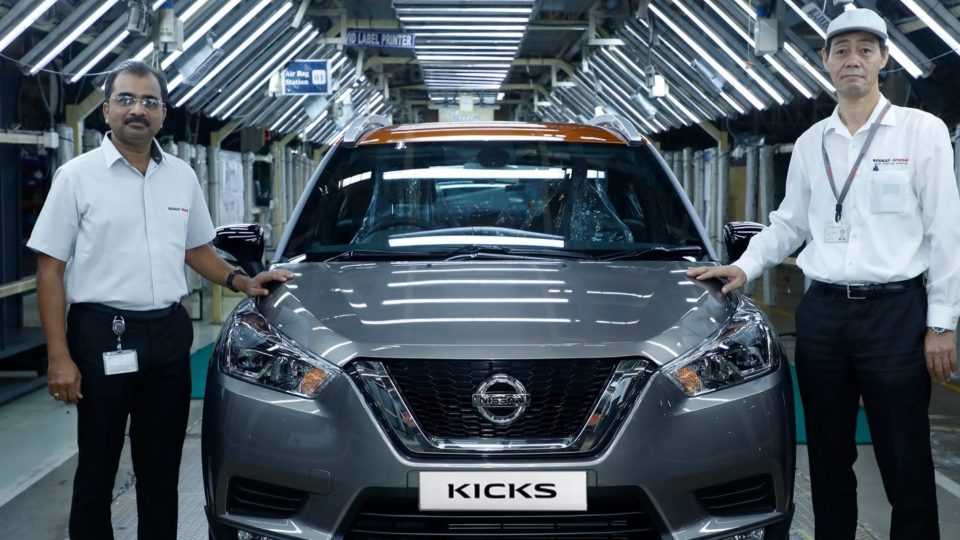 Nissan Kicks Enters Production In India