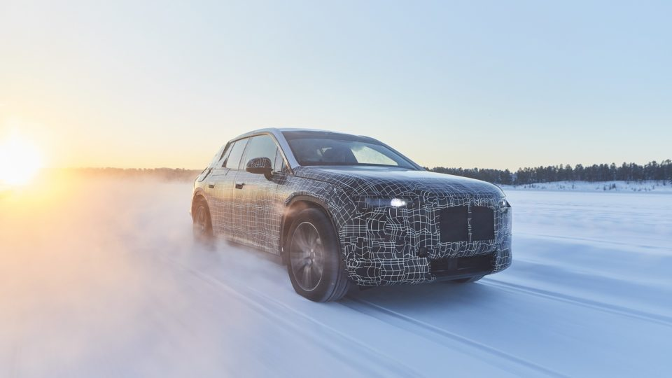 Near-Production BMW iNext Undergoes Winter Testing