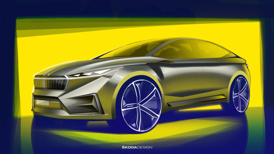 Skoda Vision iV Concept Imagined In Sketches